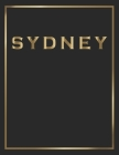 Sydney: Gold and Black Decorative Book - Perfect for Coffee Tables, End Tables, Bookshelves, Interior Design & Home Staging Ad Cover Image