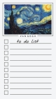 To Do List Notepad: Van Gogh Art, Checklist, Task Planner for Grocery Shopping, Planning, Organizing Cover Image