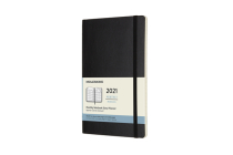 Moleskine 2021 Monthly Planner, 12M, Large, Black, Soft Cover (5 x 8.25) Cover Image
