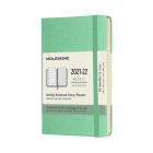 Moleskine 2021-2022 Weekly Planner, 18M, Pocket, Ice Green, Hard Cover (3.5 x 5.5) Cover Image