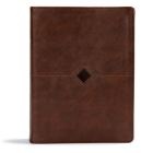 CSB Day-by-Day Chronological Bible, Brown Leathertouch: Black Letter, 365 Days, One Year, Ribbon Marker, Sewn Binding, Easy-to-Read Bible Serif Type (Day by Day) Cover Image