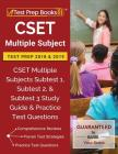 CSET Multiple Subject Test Prep 2018 & 2019: CSET Multiple Subjects Subtest 1, Subtest 2, & Subtest 3 Study Guide & Practice Test Questions Cover Image