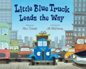 Little Blue Truck Leads the Way big book Cover Image