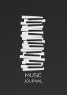 Music Journal: Manuscript paper Music notebook Blank Sheet Music Composition Manuscript Staff Notebook Cover Image
