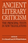 Ancient Literary Criticism: The Principal Texts in New Translations Cover Image
