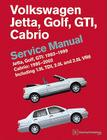 Volkswagen Jetta, Golf, GTI: 1993, 1994, 1995, 1996, 1997, 1998, 1999 Cabrio: 1995, 1996, 1997, 1998, 1999, 2000, 2001, 2002 (A3 Platform) Service Man Cover Image