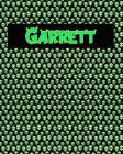 120 Page Handwriting Practice Book with Green Alien Cover Garrett: Primary Grades Handwriting Book Cover Image