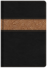 KJV Reader's Bible, Black/Brown Tooled LeatherTouch Cover Image