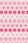 Notes: A Blank Lined Journal with Simple Pink Striped Flower Pattern Cover Art Cover Image