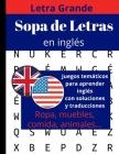 Sopa de letras en inglès: libro de sopa de letras para adultos y mayores Cover Image
