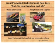 Scout Pinewood Derby Cars and Real Cars: Dad, Sir Isaac Newton, and Me Cover Image