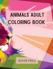 Animals Adult Coloring Book Cover Image