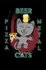 Cats Pizza Beer Metal - 6 X 9 Sketchbook Cover Image