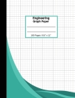 Engineering Graph Paper: 100 Pages Quad Grid Graphing Notebook, 8 1/2 x 11, Green Cover Cover Image