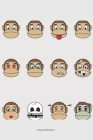 CloudyWitAChanz: monkey notebook with faces Cover Image