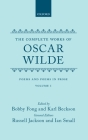 The Complete Works of Oscar Wilde: Volume 1: Poems and Poems in Prose Cover Image