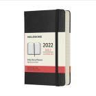 Moleskine 2022  Daily Planner, 12M, Pocket, Black, Hard Cover (3.5 x 5.5) Cover Image