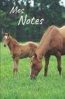 Mes notes: Carnet de Notes Poulain, Cheval - Format 15,24 x 22.86 cm, 100 Pages - Tendance et Original - Pratique pour noter des Cover Image