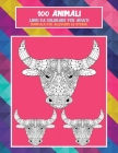 Libri da colorare per adulti - Mandala per alleviare lo stress - 100 Animali Cover Image