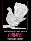 Adult Coloring Book for Crayons and Pencils - Animals - Stress Relieving Designs Cover Image