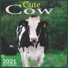Cow Cute: 2021 Wall & Office Calendar, 12 Month Calendar Cover Image