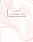 2020 Appointment Book: Pink Marble - 365 Days with Times Daily and Hourly W/ To Do List Schedule Agenda Logbook - 2020 Diaries Appointment Bo Cover Image