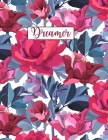 Dreamer: Wide Ruled Paper with colored flowers on the margins 8.5 x 11 150 Pages, Perfect for School, Office and Home Cover Image