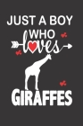 Just a Boy who Loves Giraffes: Gift for Giraffes Lovers, Giraffes Lovers Journal / Notebook / Diary / Birthday Gift Cover Image