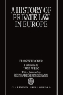 A History of Private Law in Europe: With Particular Reference to Germany Cover Image
