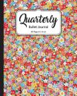 Quarterly Bullet Journal: Wonderful Blossom, Dot Grid, 8x10 Inch, 90 Pages: Small Journal Notebook Diary for Adults, Man, Woman and Kids Cover Image