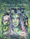Fairy and Fantasy Grayscale Coloring Book Cover Image