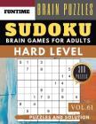 Hard Sudoku: 300 hard SUDOKU books for adults with answers brain games for adults Activities Book also sudoku for seniors (hard sud Cover Image