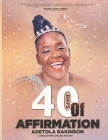 40 Days Of Affirmations: A Daughter's Praise Poetry Cover Image