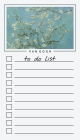 To Do List Notepad: Van Gogh Paintings, Checklist, Task Planner for Grocery Shopping, Planning, Organizing Cover Image