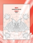 Mandala Coloring Book Large Print - Animals - Bats Cover Image