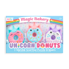 Magic Bakery Unicorn Donuts Scented Erasers - Set of 3 Cover Image
