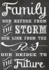 Family our refuge from the storm our link from the past our bridge to the future Family Reunion Sign In Book: Family Reunion Guest Book 200 entries Cover Image