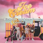 ice cream Black Pink and Selena Gomez calendar 2021: ice cream Black Pink and Selena Gomez calendar 2021 calendar 8.5x 8.5 glossy perfect to decorate Cover Image