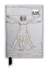 Leonardo da Vinci: Vitruvian Man (Foiled Blank Journal) (Flame Tree Blank Notebooks) Cover Image