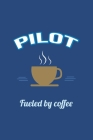 Pilot Fueled by Coffee Journal, Graph Paper: Blank Quad Grid Notebook (Office & Work Humor) Cover Image