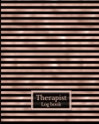 Therapist Log Book: Therapist notebook with sectionsClient notebookTherapist notebook session notesRecord Appointments, Notes, Log Interve Cover Image