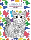 Animals Coloring Book for Teen - Easy Level Cover Image