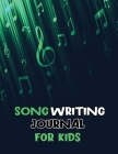 Songwriting Journal for Kids: Dual Wide Staff Manuscript Sheets and Wide Ruled, Lyrics Notebook to Write In, Lined/Ruled Paper, Manuscript Paper for Cover Image