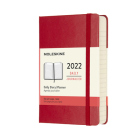 Moleskine 2022  Daily Planner, 12M, Pocket, Scarlet Red, Hard Cover (3.5 x 5.5) Cover Image