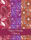 Organic Chemistry Notebook: Purple Art Flowers, 1/4 inch Hexagons Graph Paper Notebooks Large Print 8.5