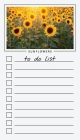 To Do List Notepad: Sunflowers, Checklist, Task Planner for Grocery Shopping, Planning, Organizing Cover Image