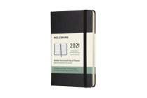 Moleskine 2021 Weekly Horizontal Planner, 12M, Pocket, Black, Hard Cover (3.5 x 5.5) Cover Image