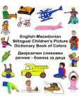 English-Macedonian Bilingual Children's Picture Dictionary Book of Colors Cover Image