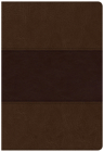CSB Super Giant Print Reference Bible, Saddle Brown LeatherTouch, Indexed Cover Image