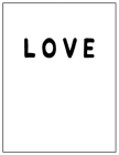 Love: Black and white Decorative Book - Perfect for Coffee Tables, End Tables, Bookshelves, Interior Design & Home Staging A Cover Image